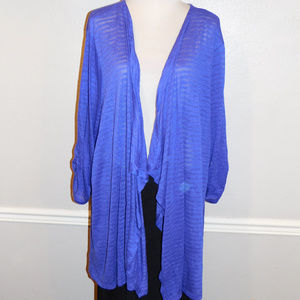 5X Catherines Purple Knit Cardigan Top NWOT